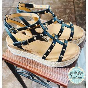Studded Espadrille Sandals